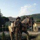 Inaugurazione della statua dedicata al mulo e al suo mulattiere